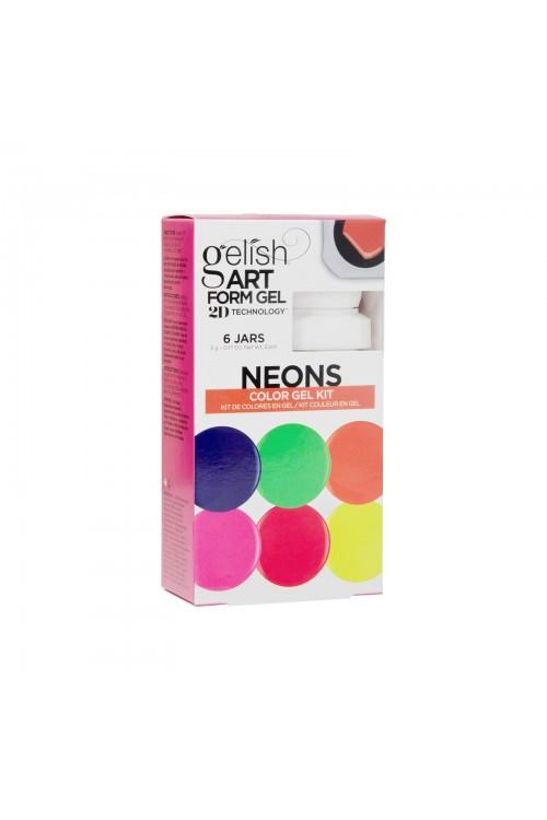 Gelish Art Form Gel - NEONS Color Gel Kit - Συσκ. 6τμχ