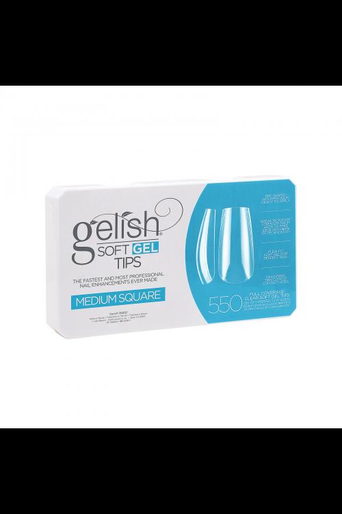 Gelish Soft Gel MEDIUM SQUARE Tips - Συσκ. 550τμχ