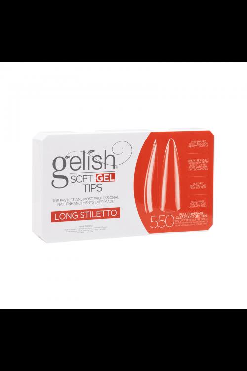 Gelish Soft Gel LONG STILETTO Tips - Συσκ. 550τμχ