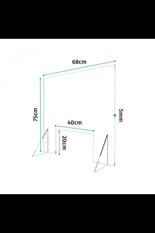Προστατευτικό Διαχωριστικό Plexiglass 68cm
