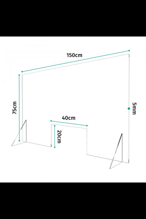 Προστατευτικό Διαχωριστικό Plexiglass 150cm