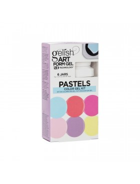 Gelish Art Form Gel - PASTELS Color Gel Kit - Συσκ. 6τμχ