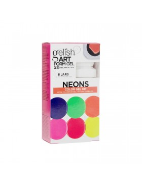 Gelish Art Form Gel - NEONS Color Gel Kit - Συσκ. 6τμχ