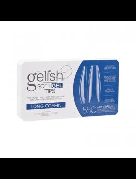 Gelish Soft Gel LONG COFFIN Tips - Συσκ. 550τμχ