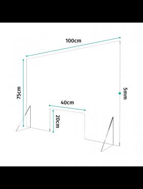 Προστατευτικό Διαχωριστικό Plexiglass 100cm